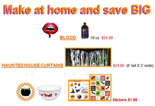 Make at home and save big halloween