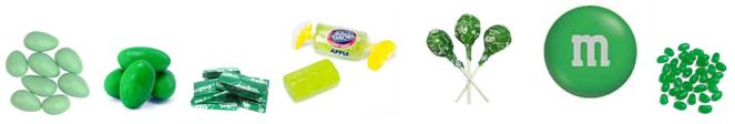 tl tip green candy