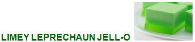 limey leprechaun jell-o