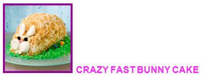 crazy fast bunny cake