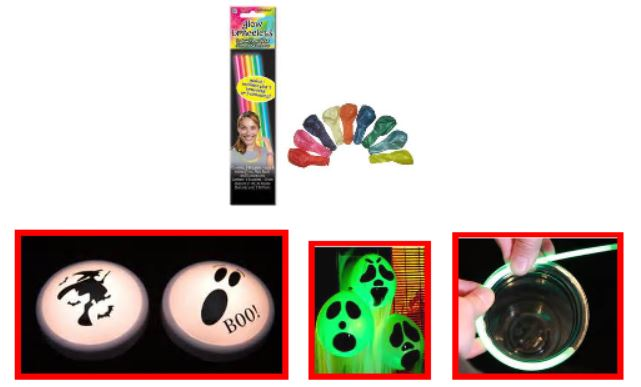 HALLOWEEN TAP LIGHTS / SPOOKY BALLOONS / ELECTRIFY PARTY DRINKS